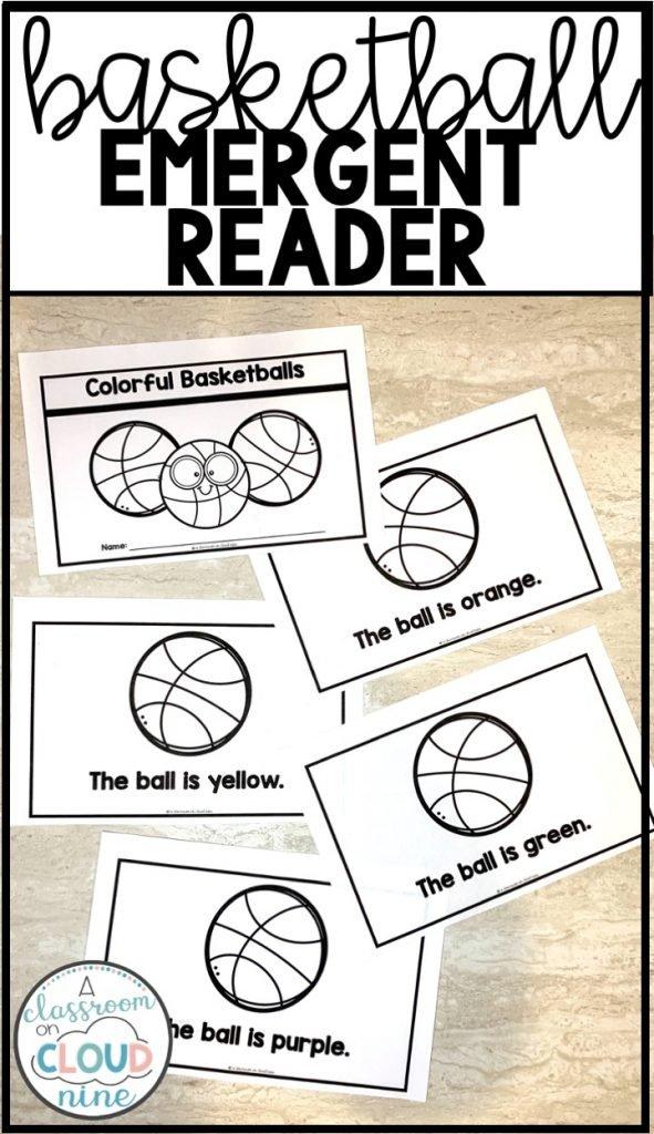 Kindergarten Basketball Madness Emergent Readers for March